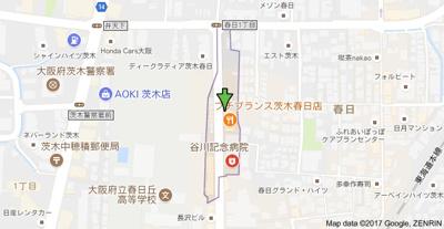 【地図】ル・レーヴ茨木
