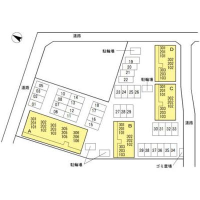 【区画図】リファルジェント泉 A棟