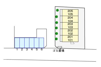 【区画図】シャルマン麻溝台