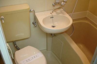 【浴室】ハイツ岸