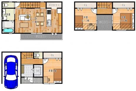 【参考プラン図】 自由設計対応!ご家族の理想のマイホームを実現できます!