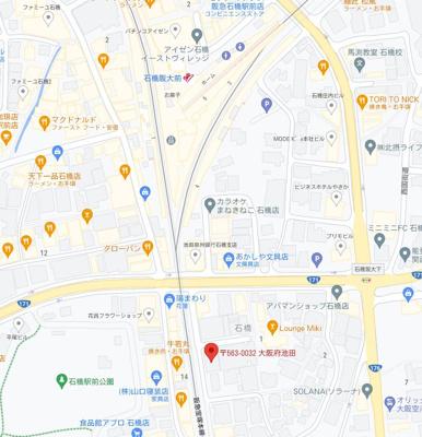 【地図】大阪大学キャンパスも近く学生需要もあります!!