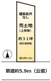 【地図】浄土寺石橋町 売土地【建築条件無し】