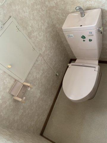 女性らしい薄ピンクのトイレです!