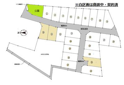 【区画図】三木市別所町近藤開発団地 10号地