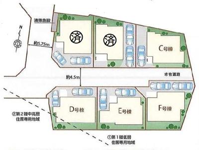 E号棟。他の区画もございます。