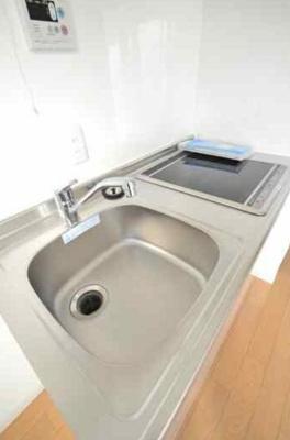 混合水栓完備のビルトインキッチン!