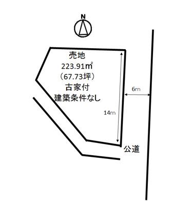 【区画図】福山市新市大字新市売土地