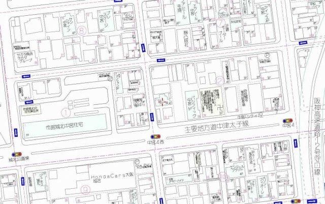 【地図】学生マンションとしても需要の見込まれる一棟マンション