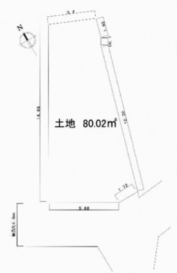 阪急電鉄宝塚線「豊中」駅徒歩10分  南西道路に面する採光・通風良好の立地 建築条件無し お好きなハウスメーカー、工務店で建築できます。