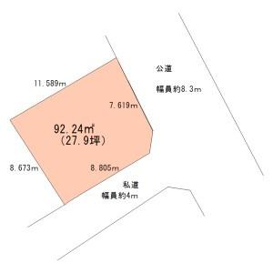 【区画図】宮野木町売地