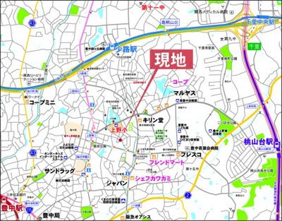 現地案内図 豊中市上野東2丁目7-26
