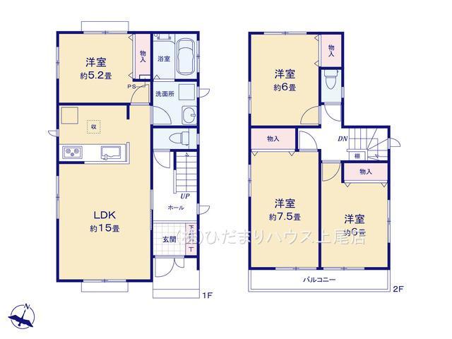【区画図】上尾市原市 第13 新築一戸建て ハートフルタウン 02