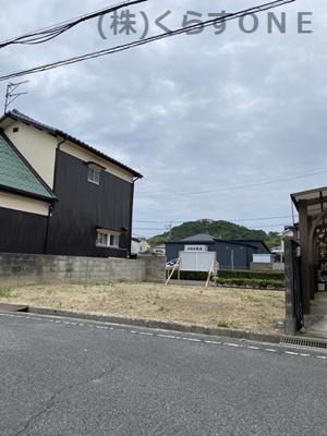 【前面道路含む現地写真】揖保郡太子町鵤/売土地