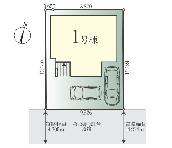 【土地図】新築 茅ヶ崎市矢畑1期 1号棟