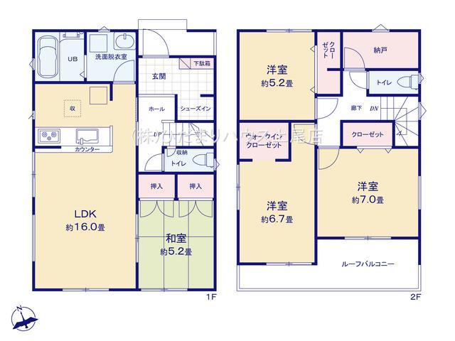 【区画図】行田市城西 20-1期 新築一戸建て リナージュ 03