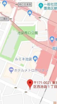 【地図】アーク池袋