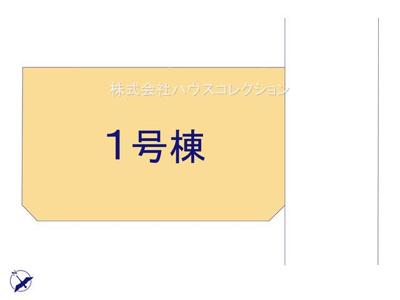 【区画図】つくば市観音台5期 1号棟
