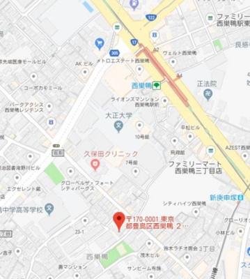 【地図】スカイコートパレス西巣鴨