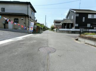 【前面道路含む現地写真】つくば市大砂第4 新築戸建