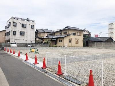 【前面道路含む現地写真】岸和田市沼町売土地 1号地