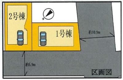 【区画図】ブルーライン弘明寺駅通町2丁目新築戸建