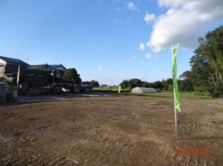【展望】久喜市菖蒲町下栢間 建築条件なし売地 土地広々156坪