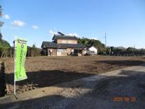 久喜市菖蒲町下栢間 建築条件なし売地 土地広々156坪の画像