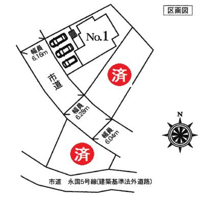 【区画図】土浦市天川1丁目19-P1 新築戸建 2号棟