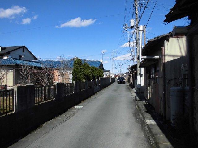 【前面道路含む現地写真】千波町土地