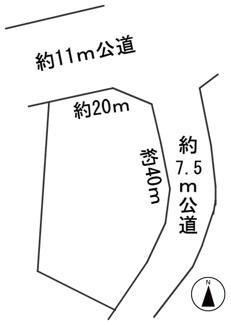 【区画図】56555 関市側島土地