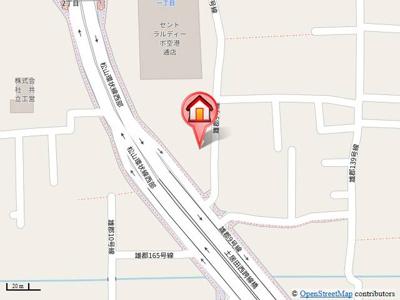 【地図】ベッセル空港通り