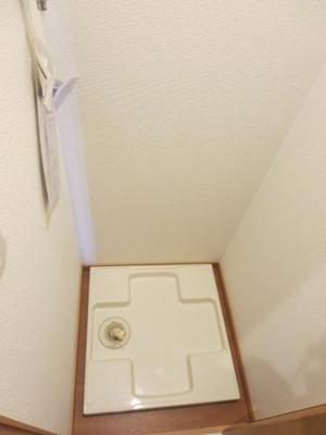 室内洗濯機置場には防水パン付で安心です