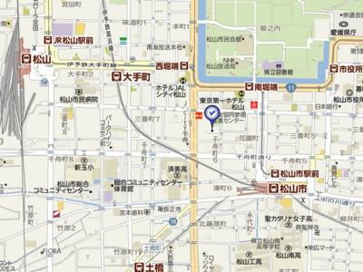 【地図】三番町ハイツ