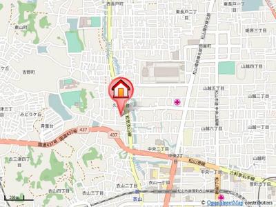 【地図】アクオス・ガーデン