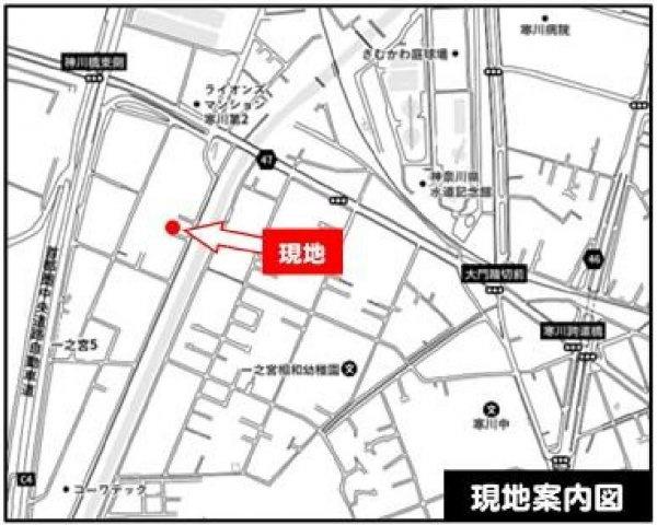 【地図】売地 寒川町一之宮5丁目