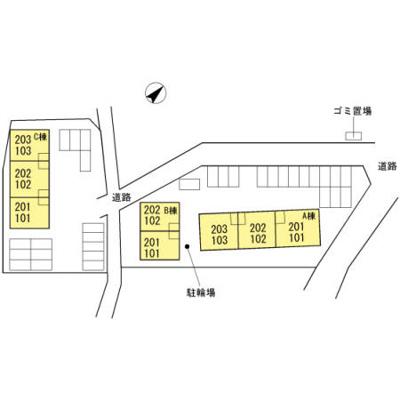 【区画図】サンビレッジ楠乃 A棟