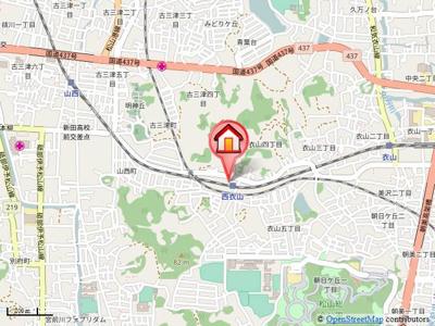 【地図】ディアコートK
