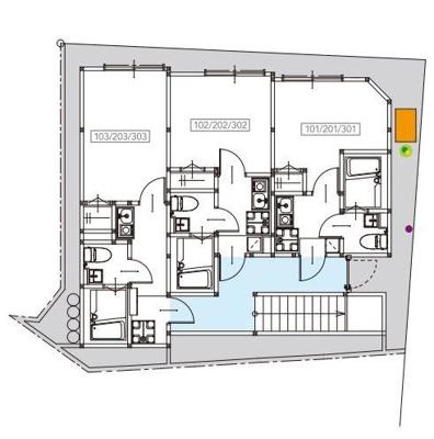 【区画図】T.A北区上中里3丁目A棟