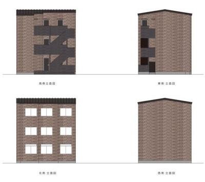 【外観パース】T.A北区上中里3丁目A棟