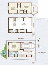志村三丁目 5490万円 新築一戸建て【仲介手数料無料】の画像