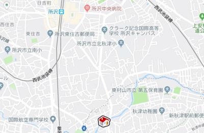 【地図】レオパレスピーヌス(26237-217)