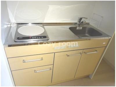 IH1口コンロ付システムキッチンです。
