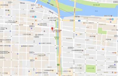 【地図】プレサンス北浜ラ・フェスタ