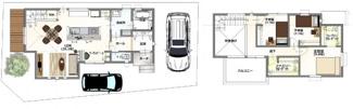 ・参考プラン価格:1850万(別途外構費170万)     ・建物価格は参考価格になります。 (弊社標準建物28坪で計算した価格です)       ・参考プラン延床面積:91.80㎡