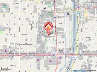 【地図】グランレジェイド京都河原町