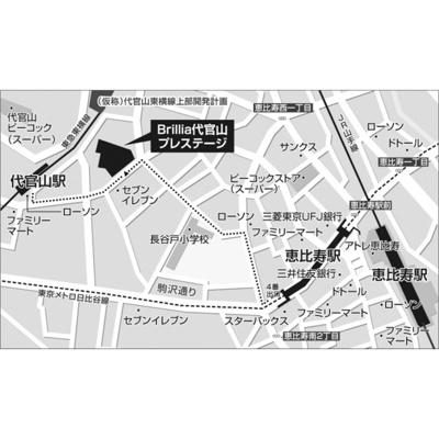 【地図】Brillia代官山プレステージ
