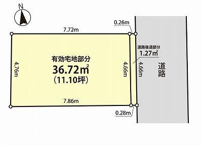 【土地図】新宿区大久保2丁目 新築戸建