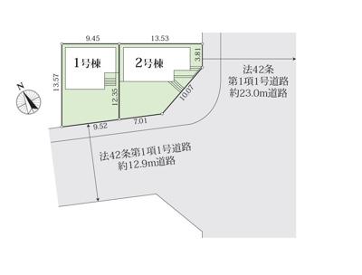 【区画図】豊田市泉町 2号棟【仲介手数料無料!】