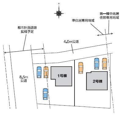 【区画図】高崎市箕郷町上芝 2号棟